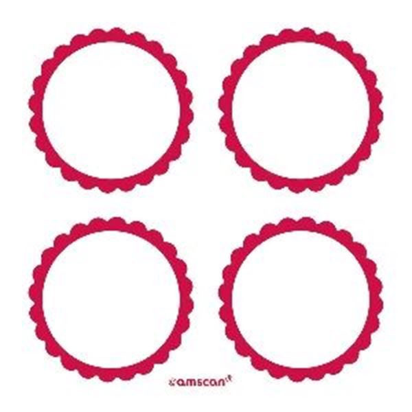 Picture of Etiquetas adhesivas rojas (20)