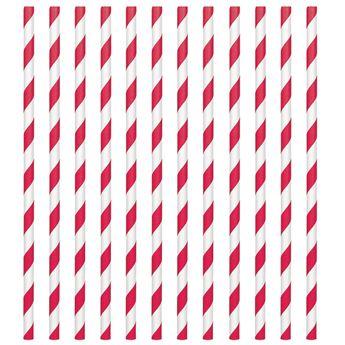 Imagen de Pajitas con rayas rojas (24)