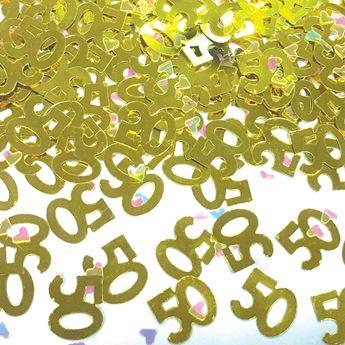 Imagen de Confeti 50 dorado (14gr)