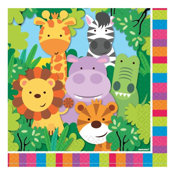 Imagen de Servilletas Animales Divertidos (20)
