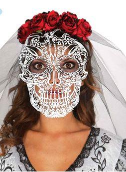 Imagen de Diadema con velo Día de los Muertos
