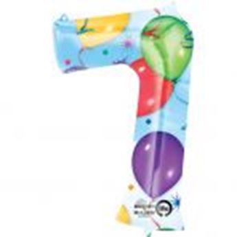 Picture of Globo número 7 globos y confeti gigante