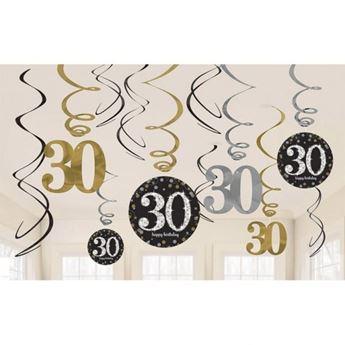 Imagen de Decorados espirales 30 años elegante (12)