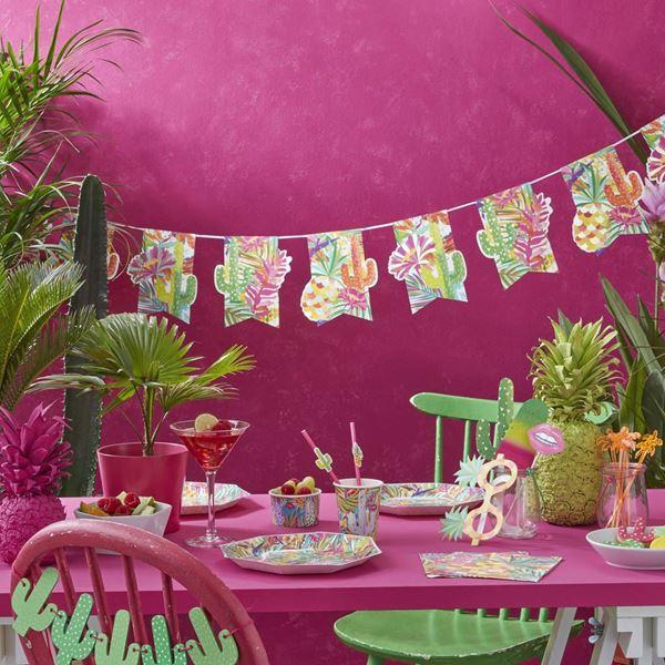 Imagen de Guirnalda tropical colorida 2,5m