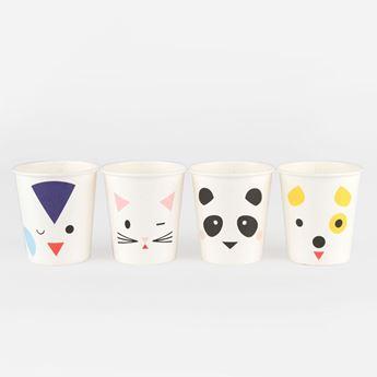 Imagen de Vasos mini animales (8)