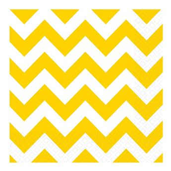 Picture of Servilletas chevron amarillo (16)