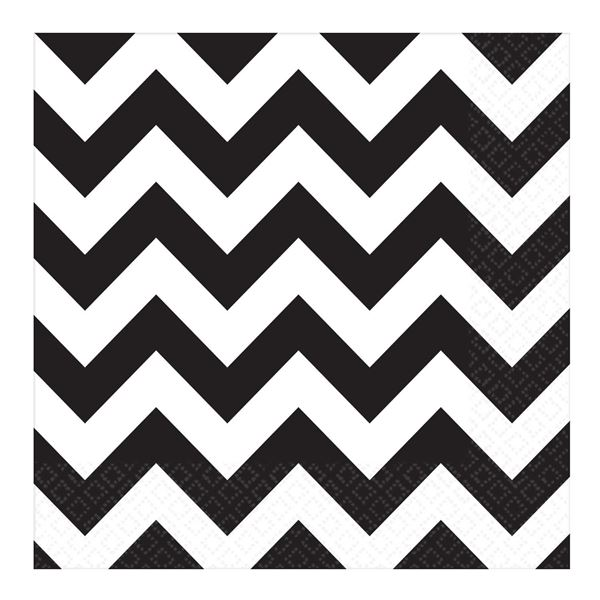 Picture of Servilletas chevron negro (16)