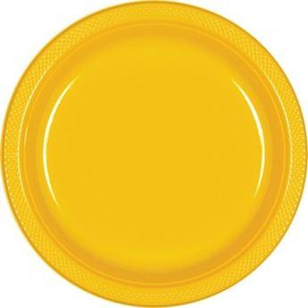 Imagens de Platos amarillos plástico grandes (10)