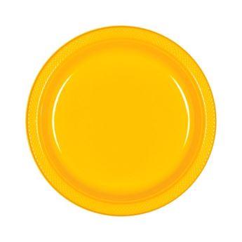 Imagen de Platos amarillos plástico pequeños (10)