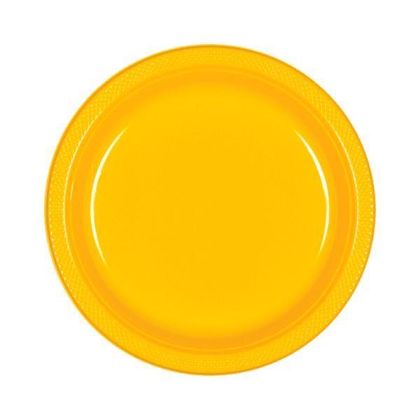 Picture of Platos amarillos plástico pequeños (10)