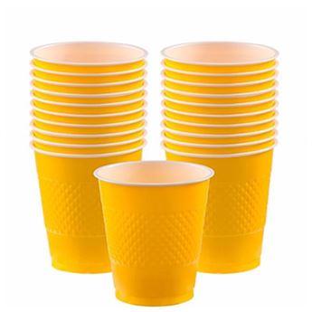 Imagen de Vasos amarillos plástico (10)