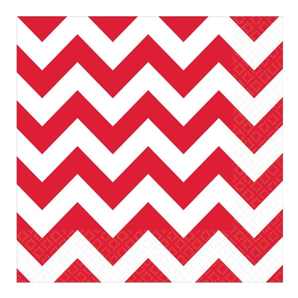 Picture of Servilletas chevron rojo (16)