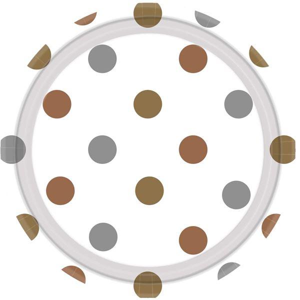 Imagens de Platos lunares plata y oro grandes (8)