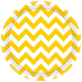 Picture of Platos chevron amarillo grande (8)