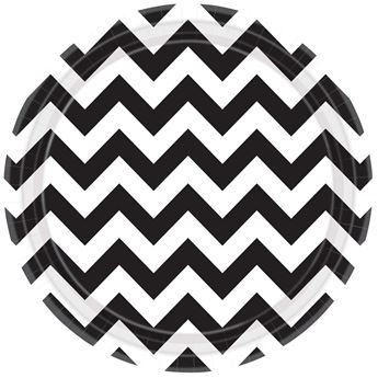 Picture of Platos chevron negro grande (8)