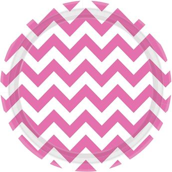Picture of Platos chevron rosa grande (8)