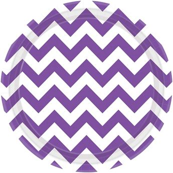 Picture of Platos chevron morado grande (8)
