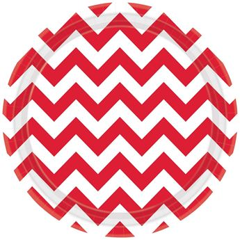 Picture of Platos chevron rojo grande (8)