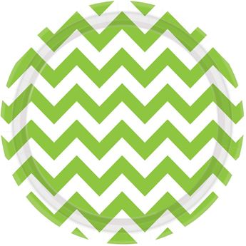 Picture of Platos chevron verde claro grande (8)