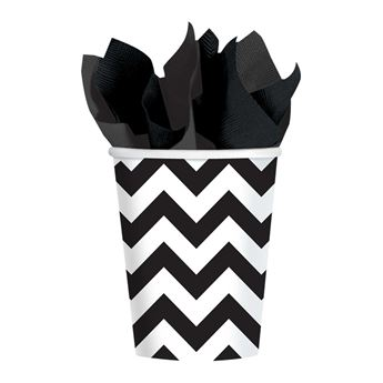 Picture of Vasos chevron negro (8)