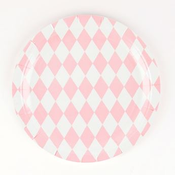 Picture of Platos diamante rosa pastel (8)
