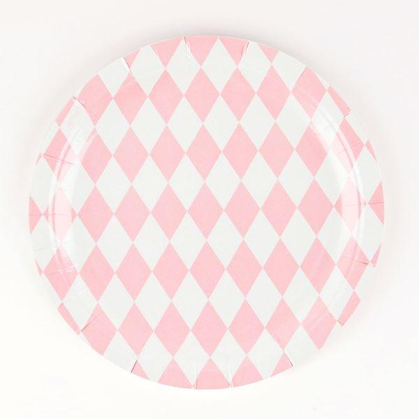 Picture of Platos diamante rosa pastel (8)