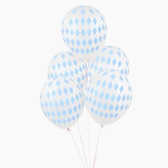 Picture of Globos diamante azul pastel (5)