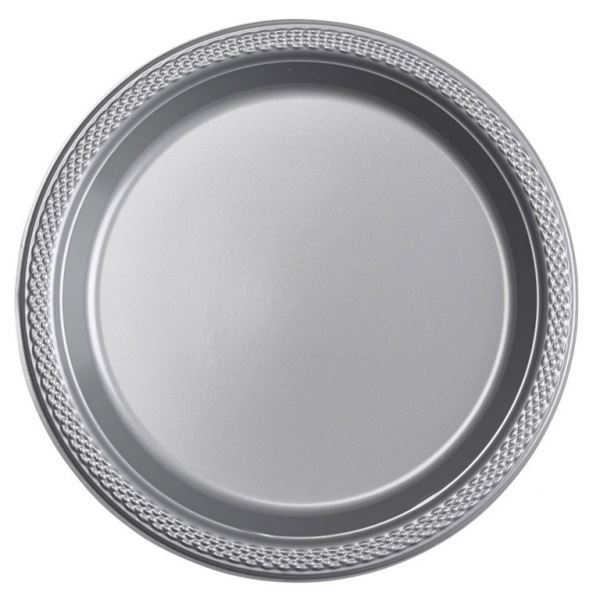 Imagen de Platos plata plástico pequeños (10)
