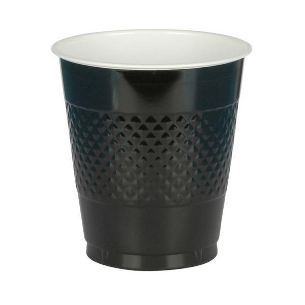 Imagen de Vasos negros plástico (10)