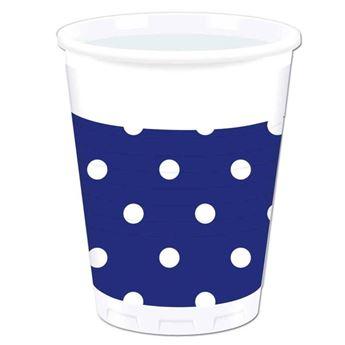 Picture of Vasos azul lunares (8)