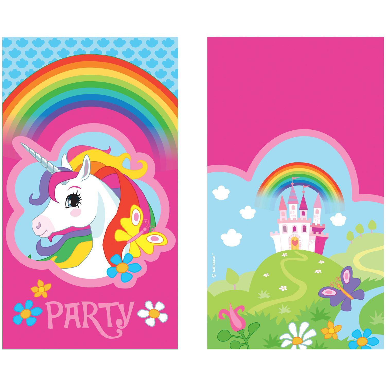 Comprar Invitaciones Unicornio (8) online. Envío en 24h. Fiestafacil ...
