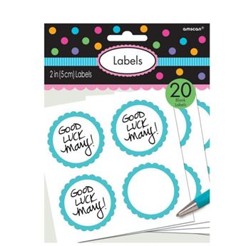 Imagens de Etiquetas adhesivas Azul caribe (20)