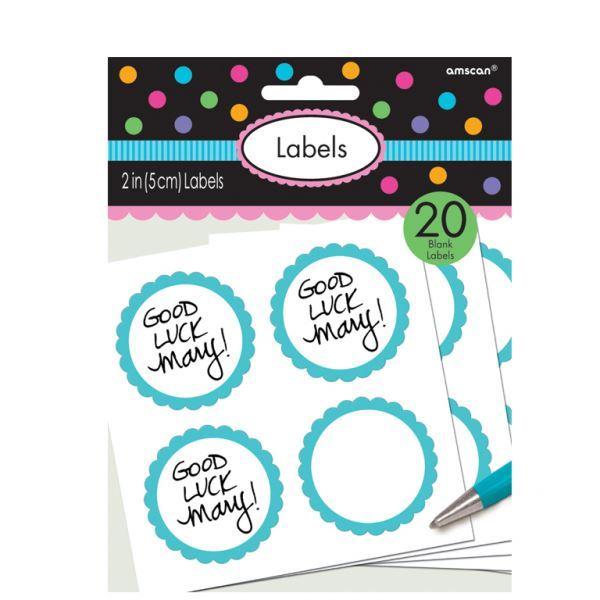 Imagen de Etiquetas adhesivas Azul caribe (20)