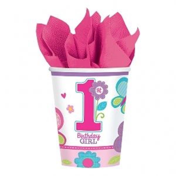 Imagen de Vasos Mi Primer Cumple rosa (8)