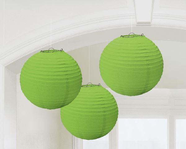 Imagen de Decorados linternas papel verdes (3)