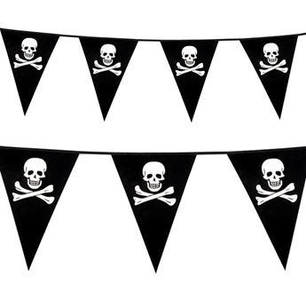 Imagen de Banderín pirata calaveras 6m