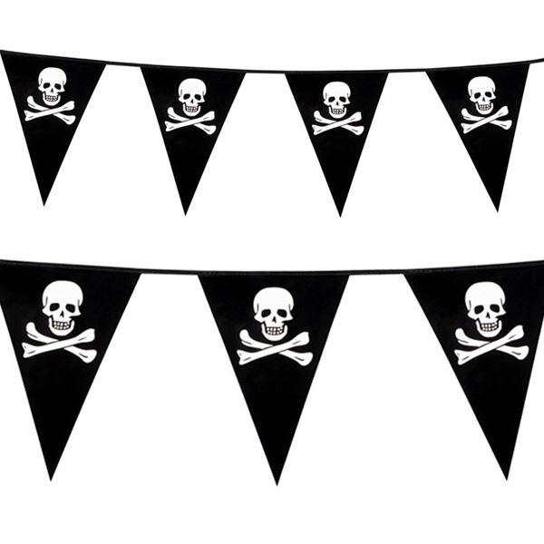 Imagens de Banderín pirata calaveras 6m