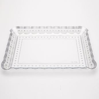 Picture of Bandeja rectangular decorada plata 30x40cm.