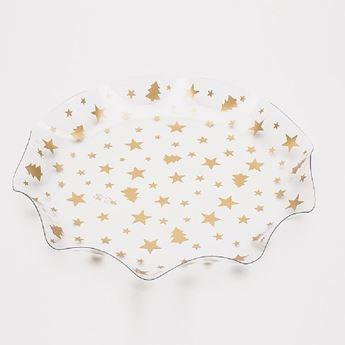 Imagen de Bandeja ondas estrellas oro 32cm