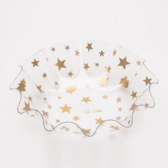 Picture of Bol ondas estrellas oro