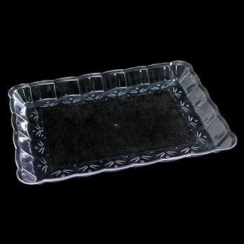 Imagens de Bandeja rectangular transparente 23x33cm