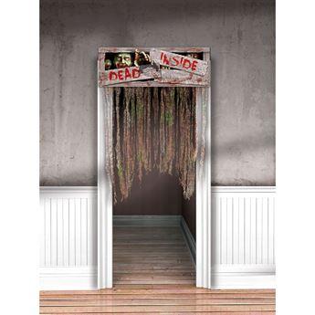 Imagen de Cortina puerta peligro zombie