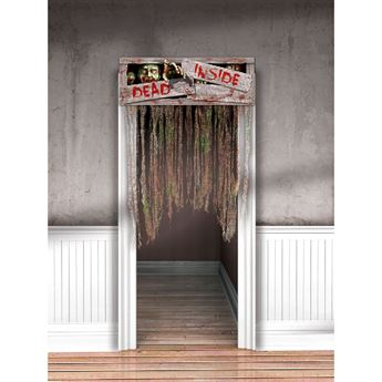 Picture of Cortina puerta peligro zombie