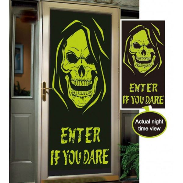 Picture of Decorado puerta calavera Fluorescente
