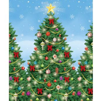 Imagen de Fondo pared árboles de Navidad 12 metros