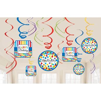 Picture of Decorados espirales Happy birthday colores (12)