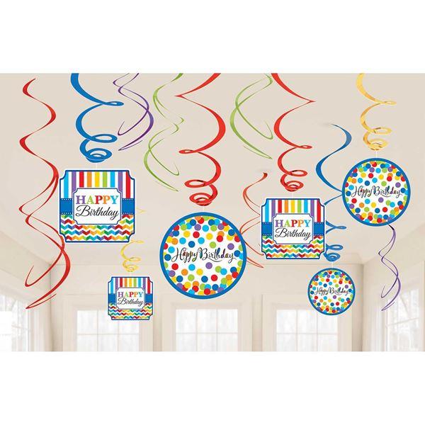 Picture of Decorados espirales Happy birthday colores (12)