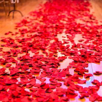 Imagen de Confeti tela pétalos rojos (300)