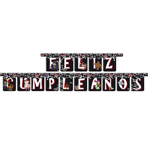 Imagen de Banner feliz cumpleaños pirata