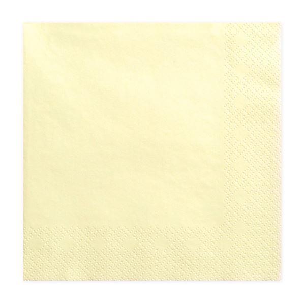 Picture of Servilletas amarillas pastel (20)